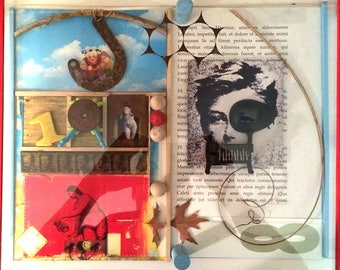 "SKY HOOK [12"" X 18"" X 1.75""] montage/assemblage"