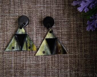 Buffalo Horn Earrings Horn Earrings Horn Jewelry Horn Accessories TA 26017