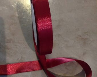 Iridescent - 15 mm - Burgundy satin ribbon
