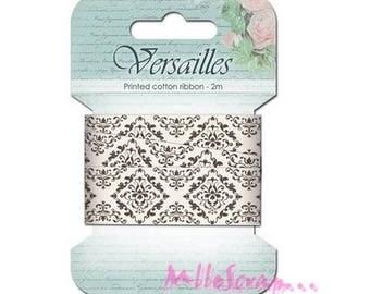 "2 m Ribbon printed ""Versailles"" baroque scrapbooking card making embellishment *."