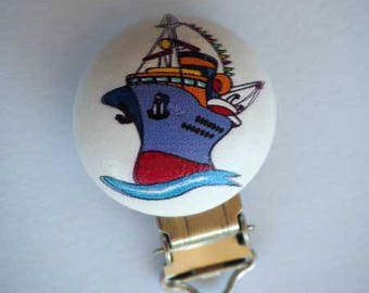 Clip pacifier, toy, wooden boat ship, transportation