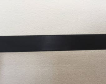 wide black satin ribbon 1.5 cm