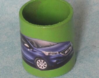 Blue car cardboard roll napkin