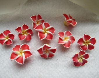 Bell flowers tiara red vermilion 2.2 cm beautiful set of 10 units