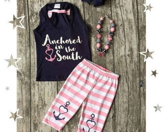 Girls Anchored in the South outfit