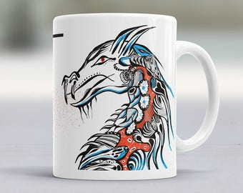 Face the Dragon Boss - 11oz Ceramic Coffee Mug, Tea Cup Novelty Gift Idea