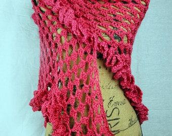 Flirty Salmon Pink Wrap/Shawl