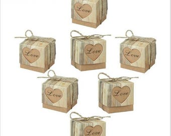 100pcs Heart Wedding Boxes//Wedding Favor//Wedding favor Boxes//Wedding Candy Paper Box//Gift Box// Wedding Gift//Treat Box,baby Shower