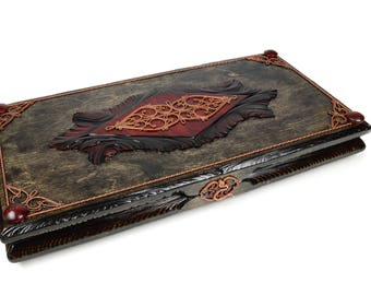 EcoCraft Handmade Wooden Backgammon Golden Series