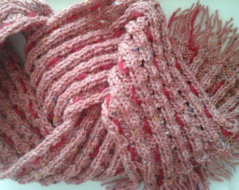 Sheer scarf French superwash wool