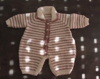 taupe, ecru onesie 3 months