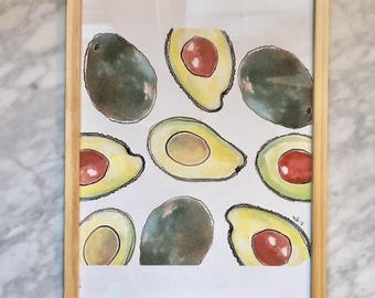 Avocado Love - A4 framed