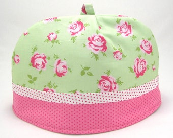 Mint and Pink Classic (Dome) Tea Cozy (Cosy) 6-cup