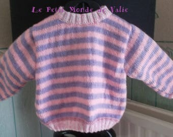 Baby 6 months pink and purple sweater