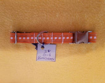 "Neon Orange 8""-10"" Dog Collar"