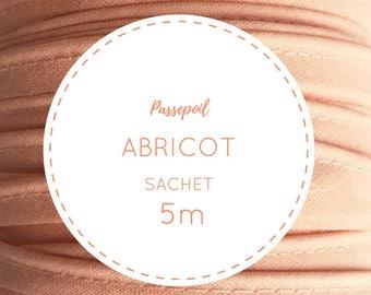 Sachet 5 m cotton piping - apricot