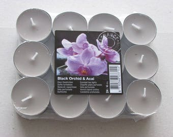 24 candles warm flat Black Orchid and Acai