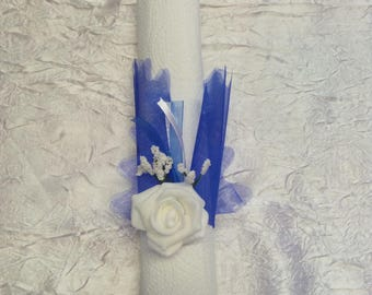 Napkin ring, wedding, christening, communion blue royal
