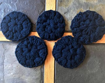 Crocheted face scrubbies