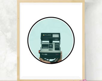 Polaroid Camera | Wall Art | Polaroid Prints | Digital Download | Home Decor | Polaroid Wall Print
