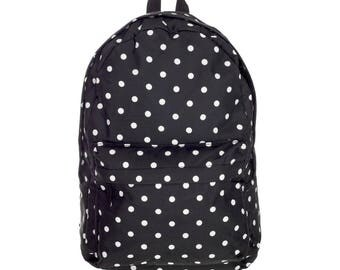 Vintage Backpack Rucksack School Book Bags College Sack Outdoor Dots