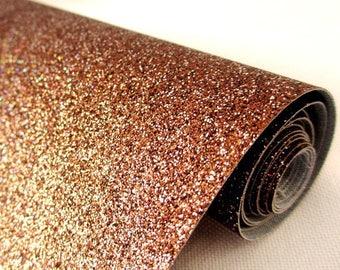 Tissu micro paillettes,  glitter coloris noisette multicolore 30/25cm, à coudre pour customisation, couture et DIY , lavable