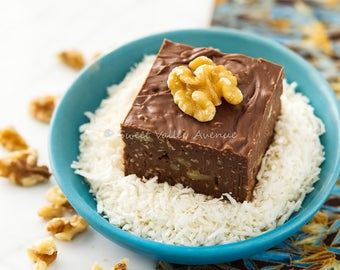 Chocolate Coconut Walnut Fudge - 1/2 lb - 225 grams