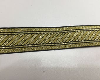 Sewing Ribbon black and gold