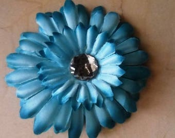 set of 2 appliques flowers Blue 11cm