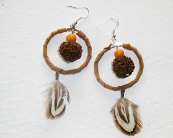 Earring Pocahontas / feather / ethnic / Native American