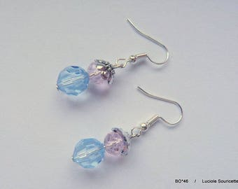 BO * 46 earrings pink and blue