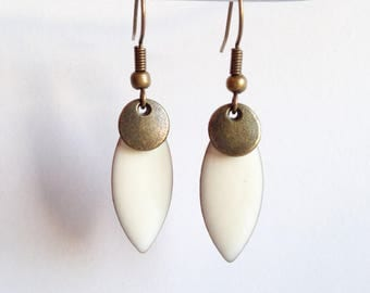 Earrings - Summer Touch - white