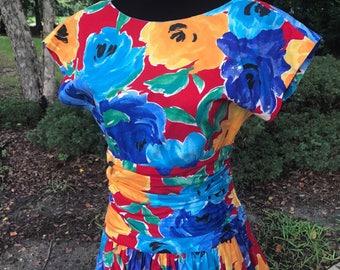 Gorgeous Floral Vintage Dress