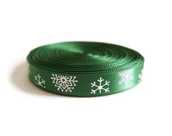 Christmas decoration Green Ribbon