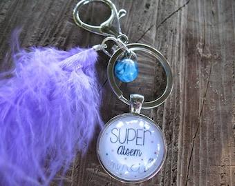 Jewelry bag Keychain Super School thank you gift