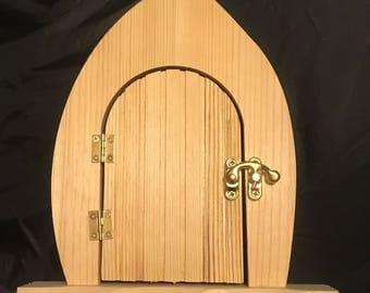 Porte de fée pour décorer, porte de fée en bois, porte de fée qui s'ouvre, décorer votre propre porte de fée, son son cadeau, cadeau pour fille, artisanat en bois