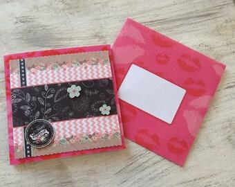 "Double 3D ""Happy birthday"" card with envelope 14 X 14 cm"