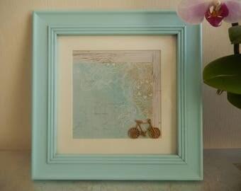 Blue decorative frame