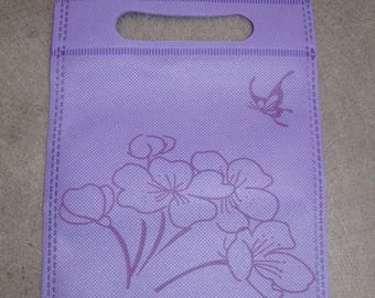 Pouch, wrapping cloth reusable 20 x 15 cm new purple color