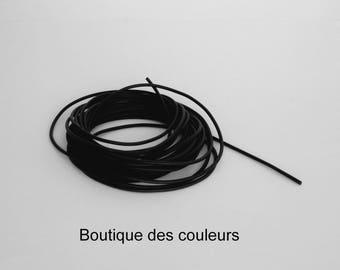 4 meter length of rubber full black 1.5 mm