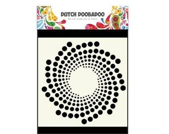 Stenciled Dutch Doobadoo Mask 15 cm Sun New Stencil Art