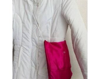 Satin clutch bag purse pink by BAGART