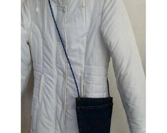Bag pouch jean Pocket blue jean by BAGART jean denim clutch bag