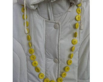 Necklace yellow by BAGART buttons necklace