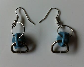 Small zips by BAGART pierced earrings