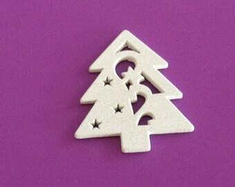 5 x White fir - wood embellishments
