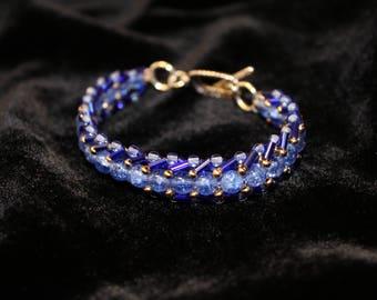 Blue Wonder Flat Spiral Bracelet