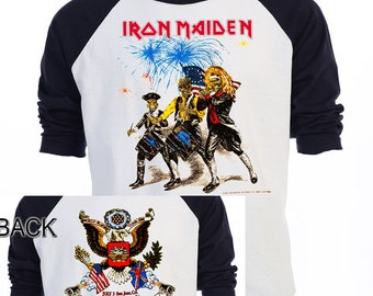 IRON MAIDEN,4th Of July,86' TOUR,Rare Art T-Shirt,All Sizes,573