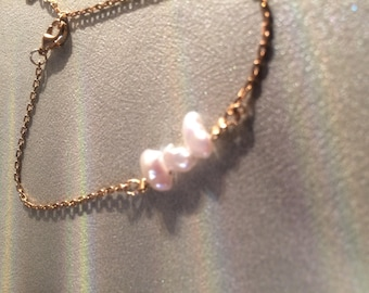 gold plated bracelet and Freshwater Pearl