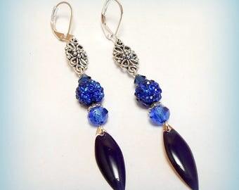"""Earrings drop """"Light Sapphire"""""""